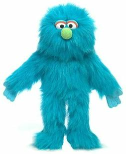 """14"""" Plush Blue Fuzzy Monster Full Body Hand Puppet by Silly"""