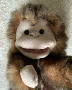 Folkmanis Brown Monkey Long Tail Hand Puppet