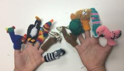 Handknitted Finger Puppets. Wholesale set of 50. Handcrafted