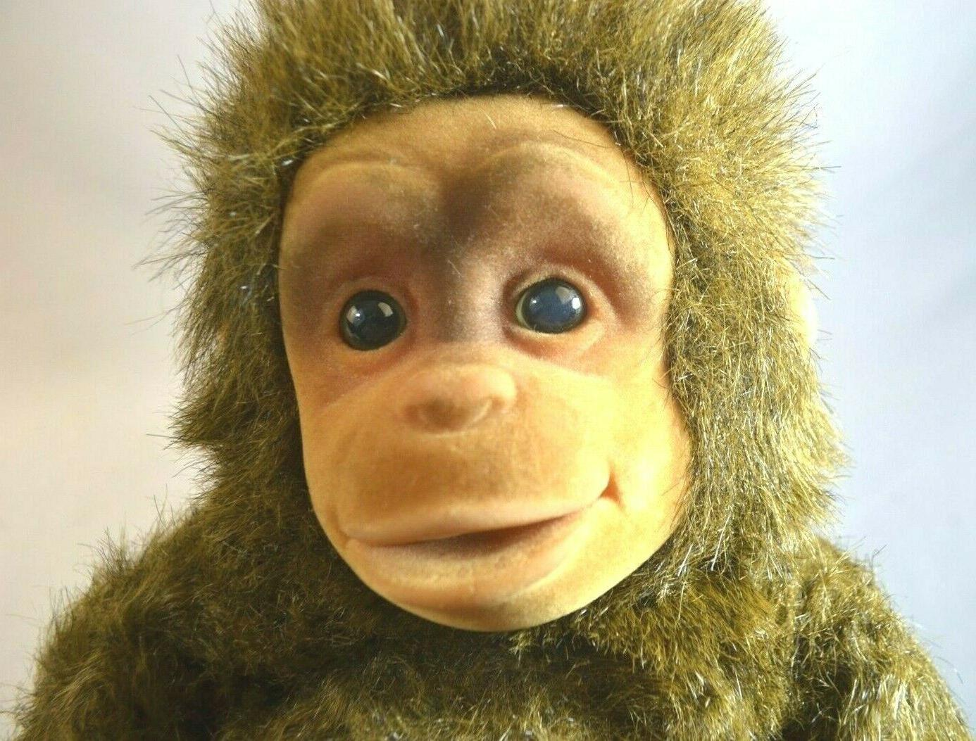 realistic flocked face baby chimp plush puppet