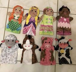 lot 8 melissa and doug hand puppets
