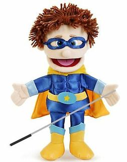 Silly Puppets Superhero Boy Glove Puppet Bundle 14 inch with